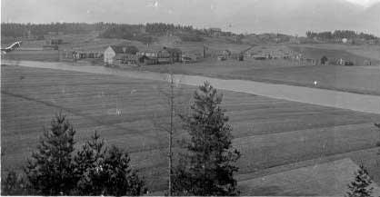Näkymä Kerkkoosta 1920-luvulla (kuva Tanhumäen suunnasta)